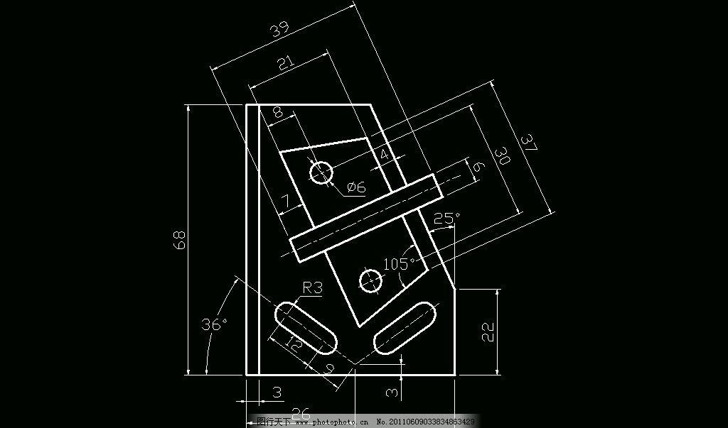 工程制图手绘钩子画法