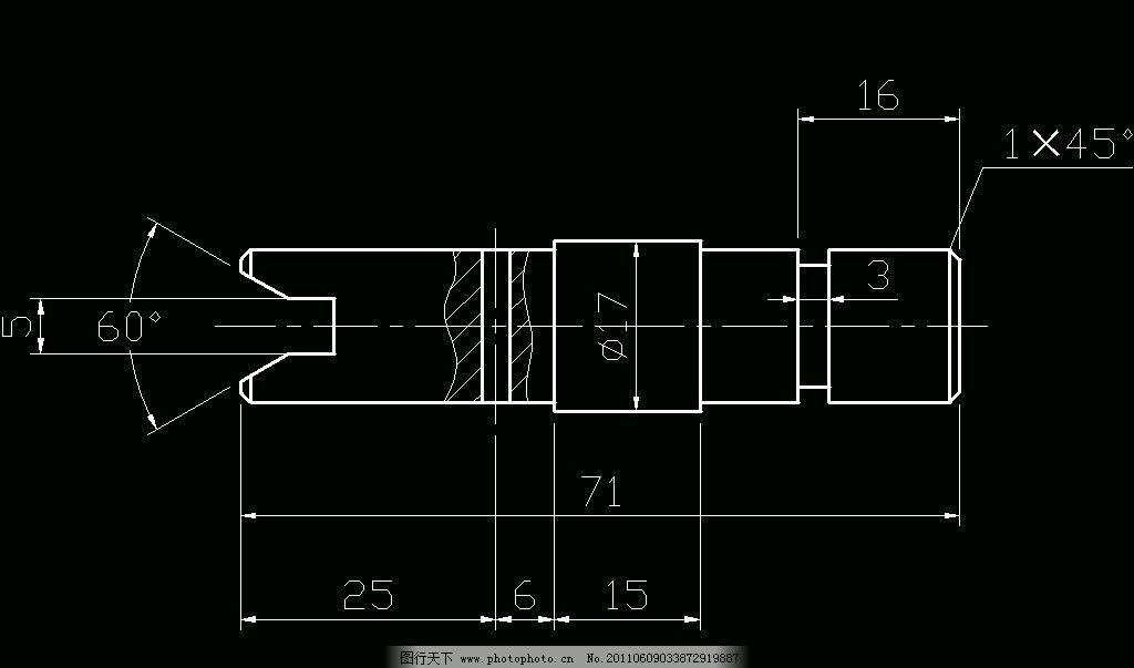 机械制图 cad 图纸 平面图图片