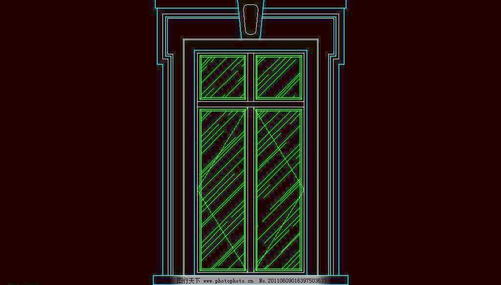 西式窗欧式窗 窗户 窗台 窗子 建筑设计 立面图 门窗 平面图