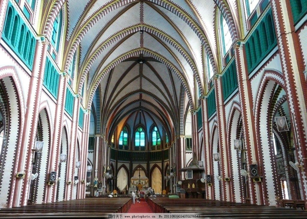 缅甸 仰光 基督大教堂 内景图片