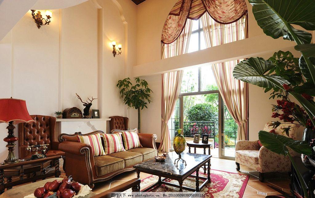 别墅客厅 别墅      室内 豪华 装修 房间 温馨      落地窗 室内摄影