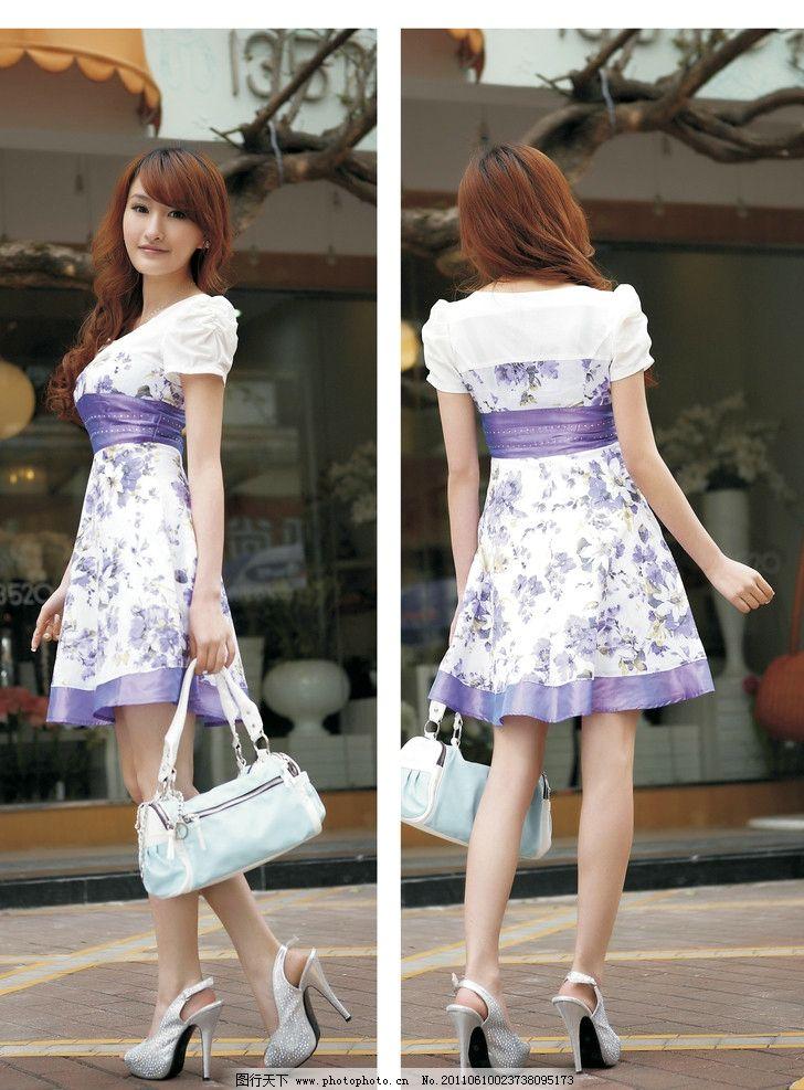 时尚女装 美女 女性 海报 衣服 裙子 服装设计 提包
