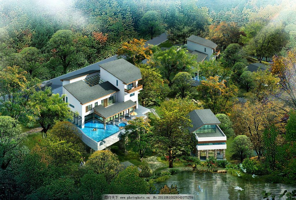 别墅环境设计手绘图片