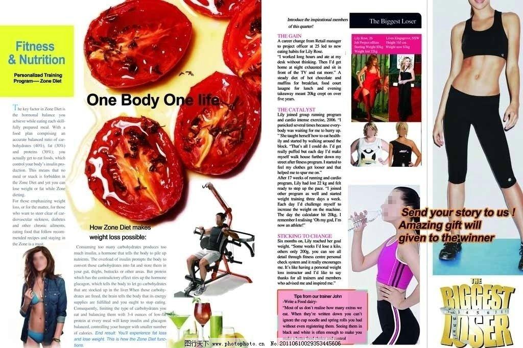 国外健身会所宣传册 器械 运动 饮食 画册设计 广告设计模板 源文件