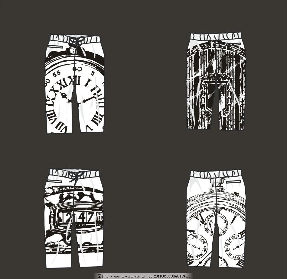流行裤子 时尚裤子 创意 广告设计 其他设计 cdr 裤子设计全集 矢量