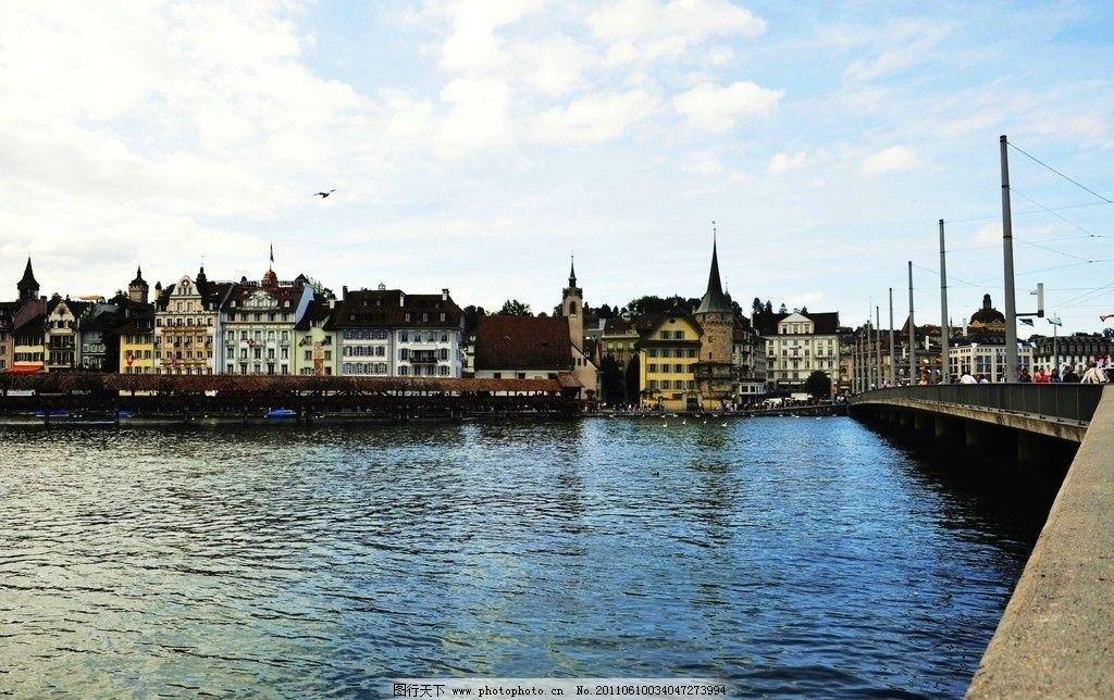 瑞士琉森湖图片