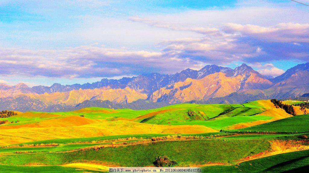 设计图库 自然景观 自然风景  江布拉克景观 新疆 江布拉克景区 天然
