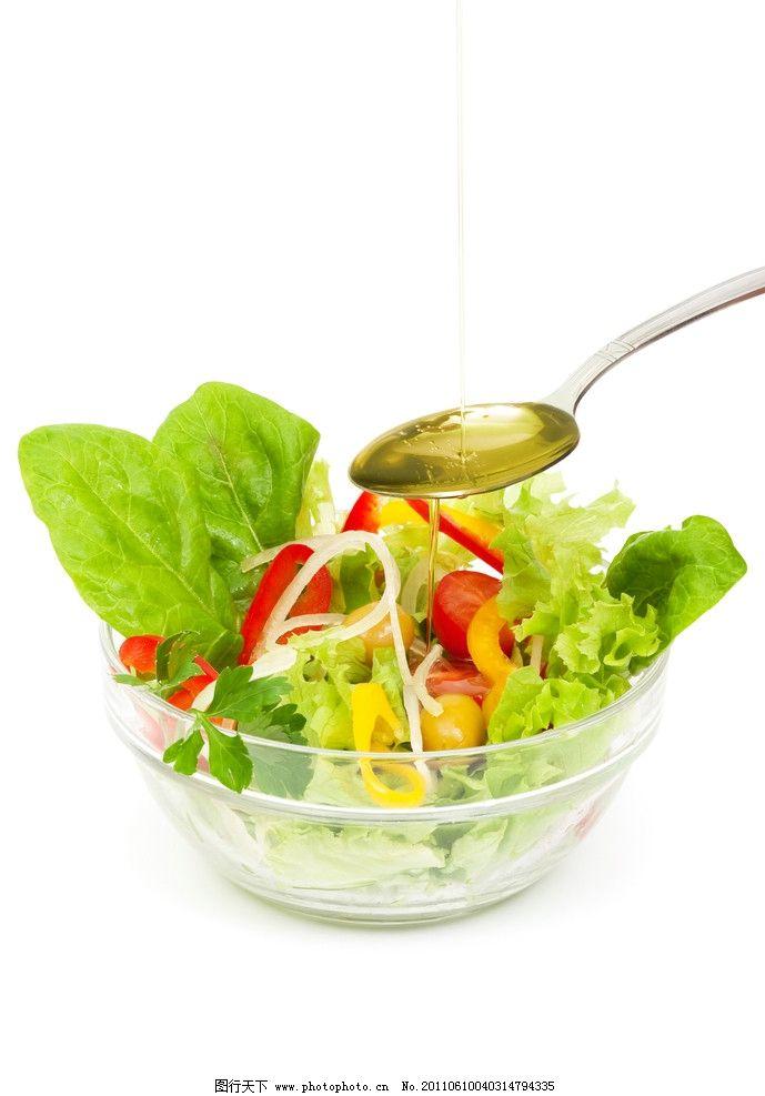 果蔬沙拉 沙拉 蔬菜 果蔬 水果 水晶盘 西红柿 青菜 西生菜 西餐美食