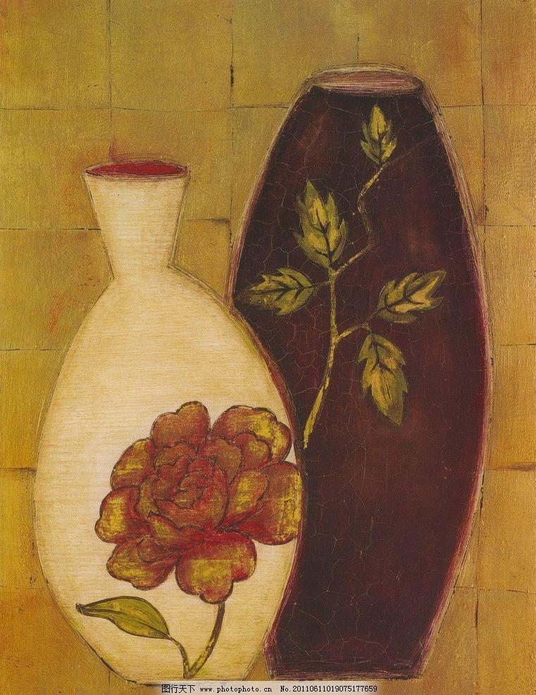 玫瑰花瓶 油车 手工绘画 花瓶 油画花瓶 带有玫瑰花的花瓶 油画花卉