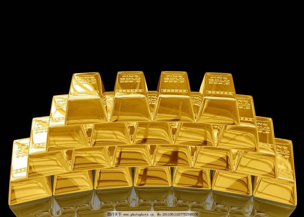 黄金金条图片