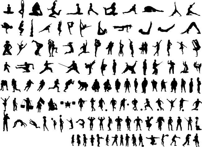 人物 人物剪影 人物素材 矢量人物素材 体操 体育 人物 人体 人体动作
