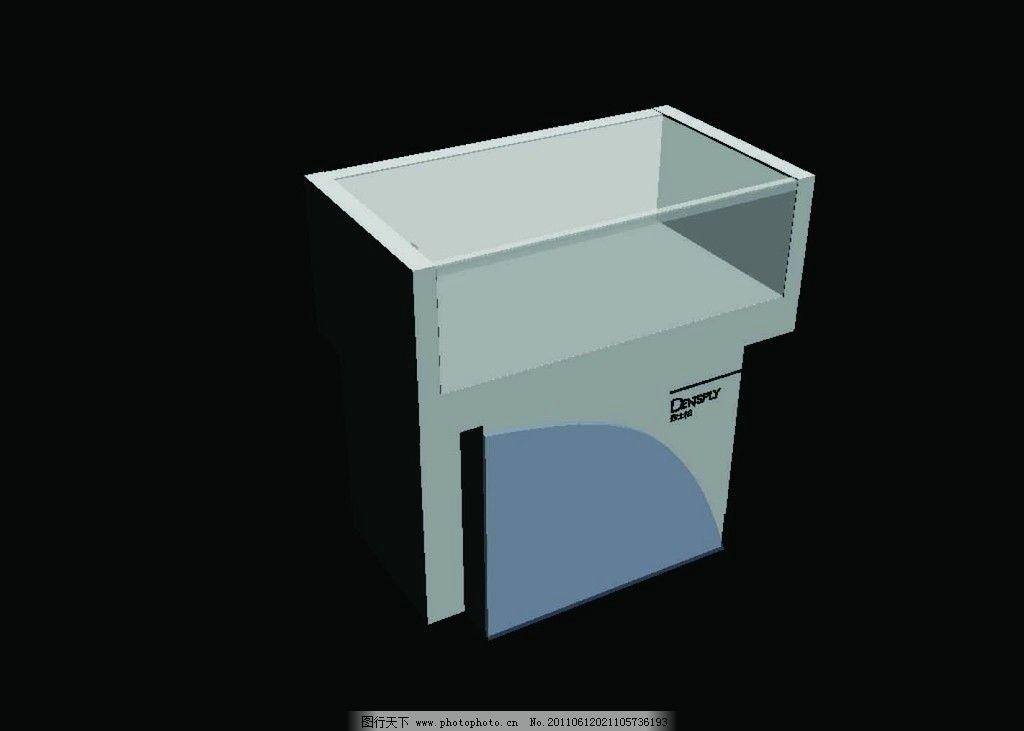 透明亚克力_展柜 柜子 模型 上方透明亚克力 立柱 效果图 手机柜子 室内模型