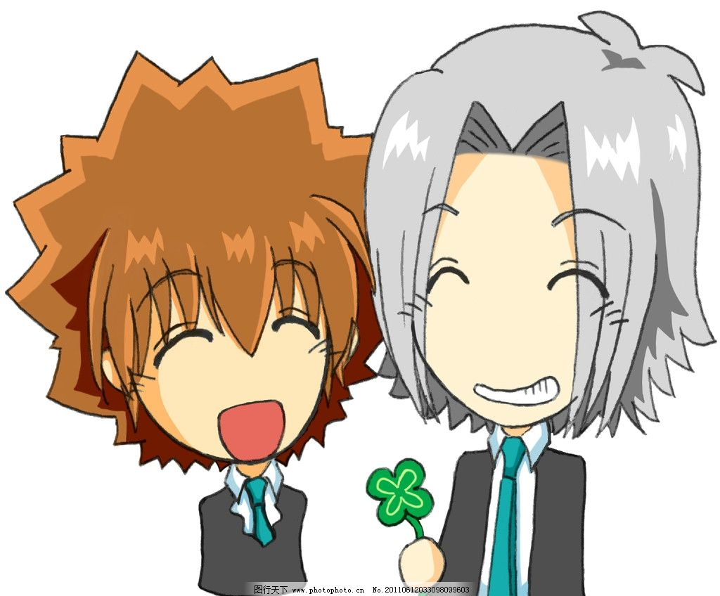 动漫日本卡通少年人物微笑图片