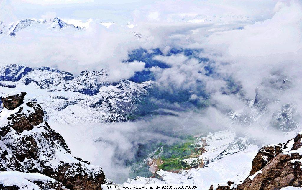 瑞士风景 欧洲 瑞士 阿尔卑斯山脉