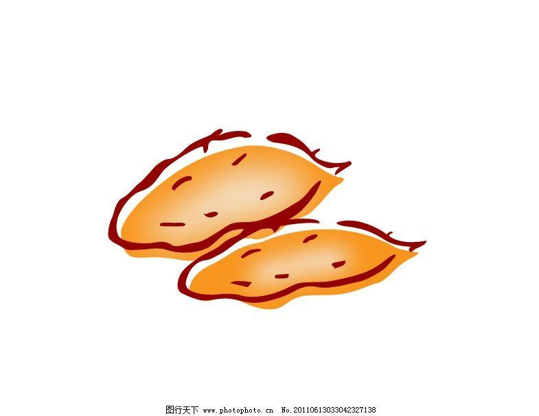 手绘线条红薯图片