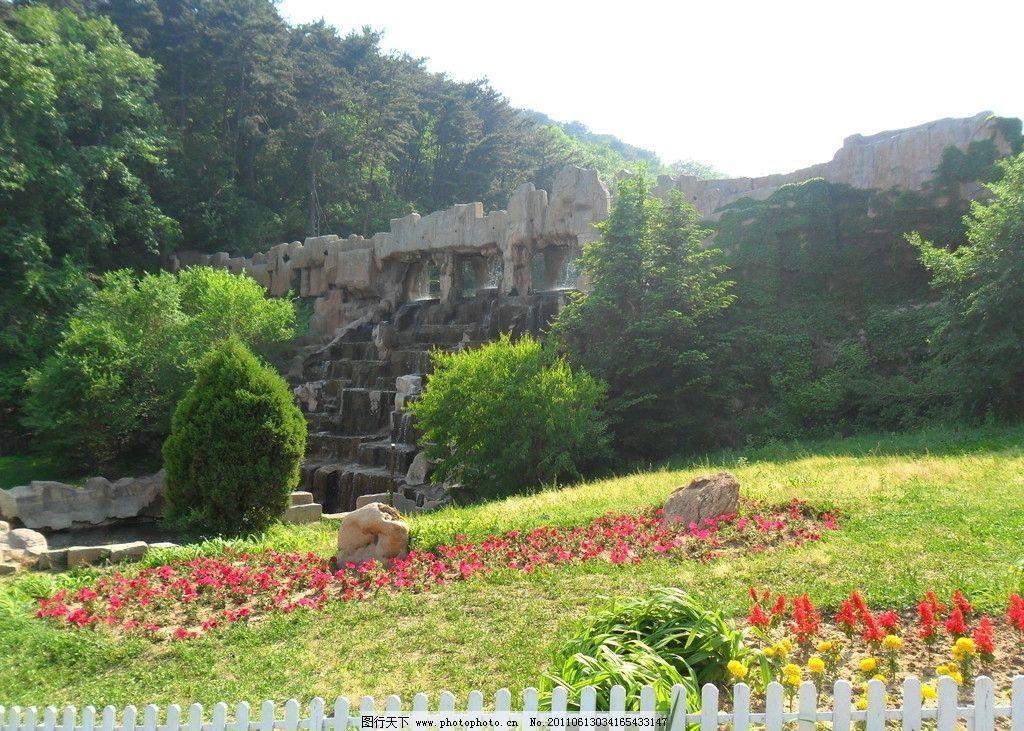 风景 千山 夏天 大山 庄园 草地 旅游摄影 自然风景
