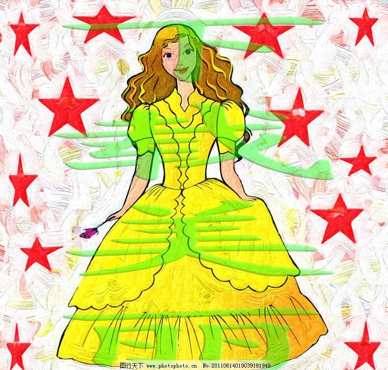 普罗旺斯小公主 装饰画 无框画 趣味 生动 搞笑 卡通 儿童画 幼儿园装