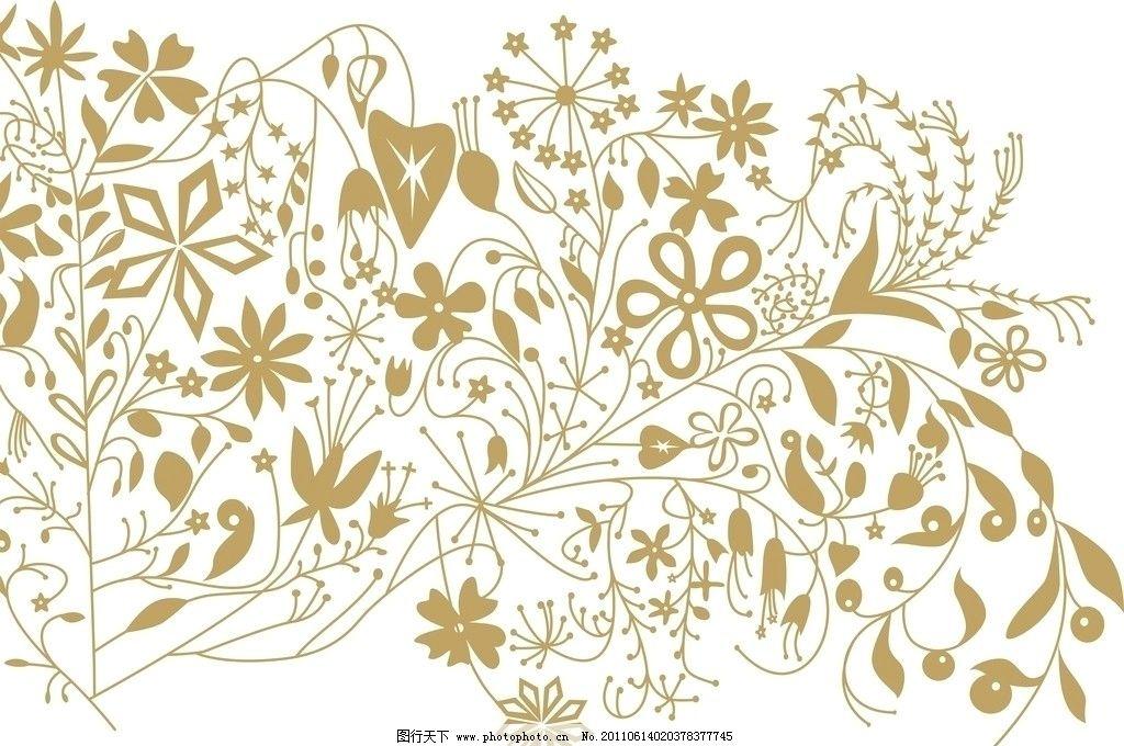 金黄色花纹图片
