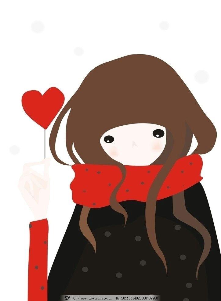 可爱女孩 浪漫 唯美 小女孩 cdr 爱心 儿童幼儿 矢量人物 矢量