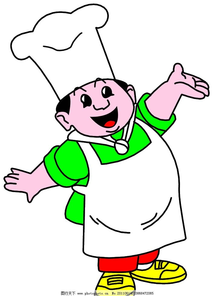 卡通 动漫 厨师图片
