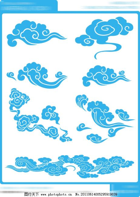 古典云纹006免费下载 古典云纹矢量图 矢量云彩 古典云纹006 古典云纹