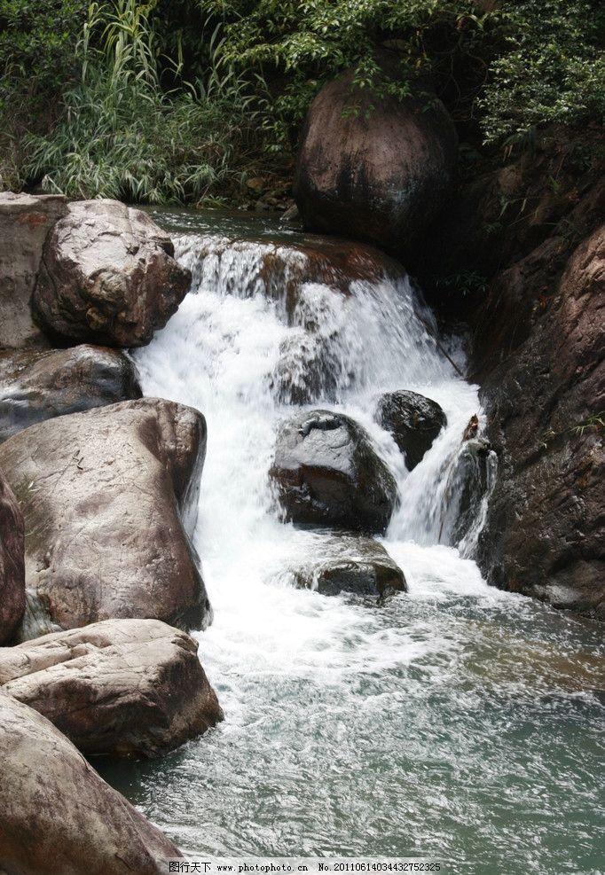 山间流水 山泉水 高山深泉 清泉 瀑布 小溪 水潭 山水风景 自然景观