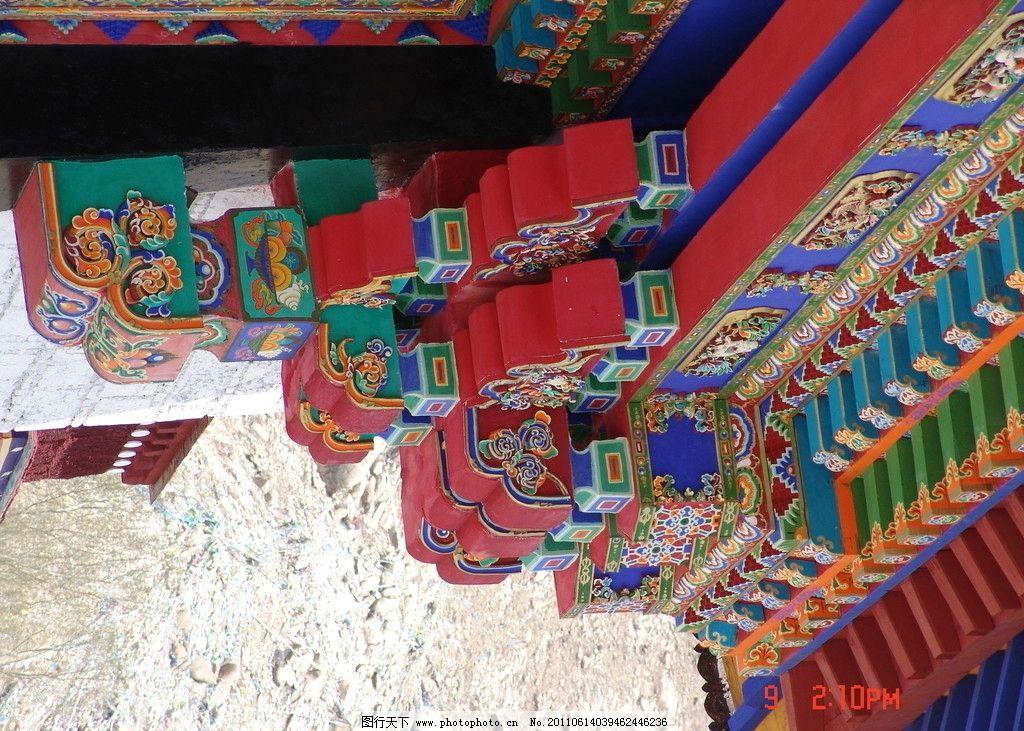 藏式大门局部 豪华装修 图案 传统 文化 古典图图案 建筑摄影 建筑图片