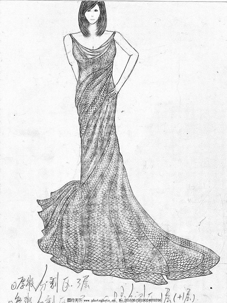 服装手绘图图片