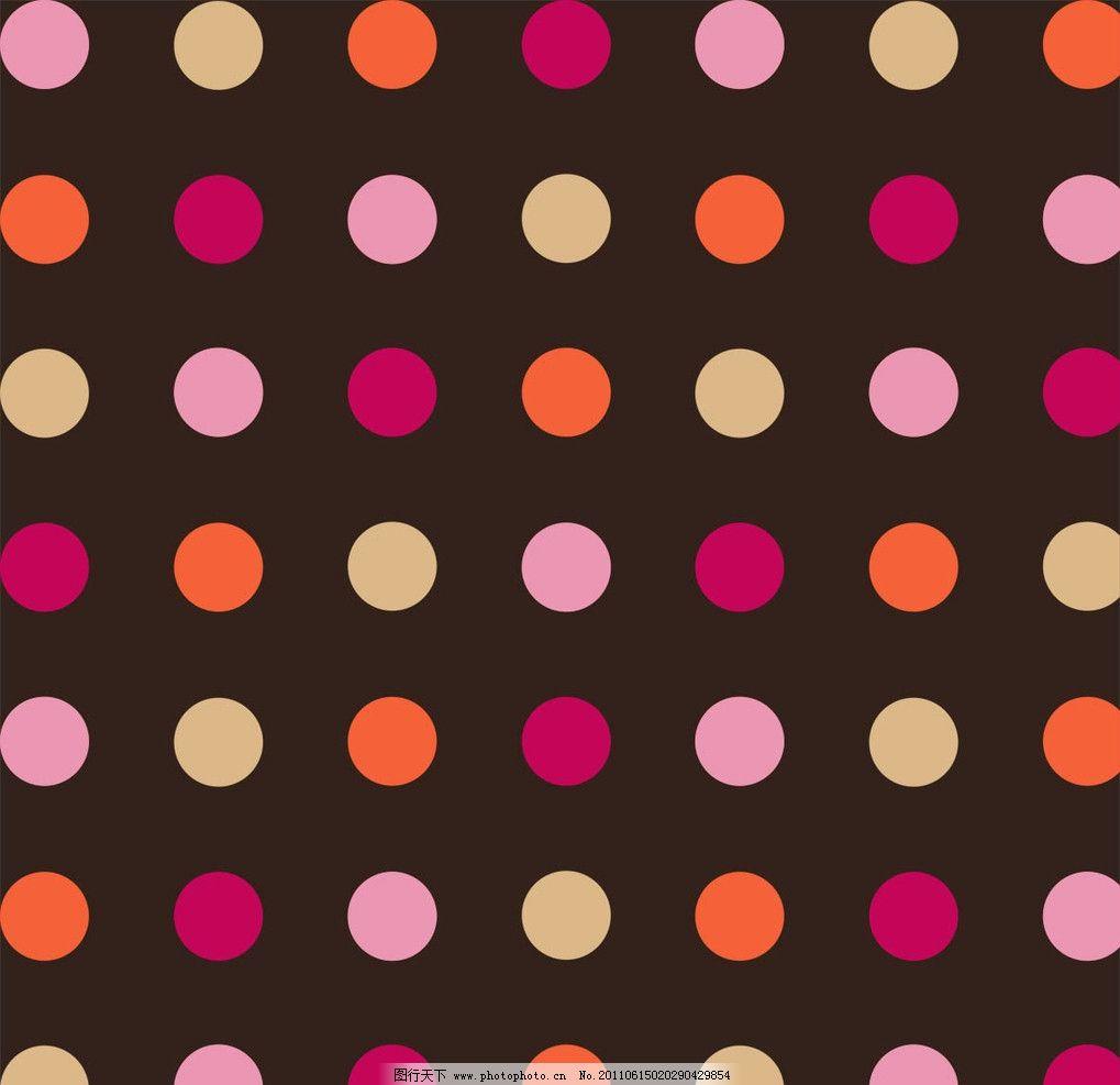 圆点 咖啡色 印花 背景底纹 底纹边框 设计 300dpi jpg