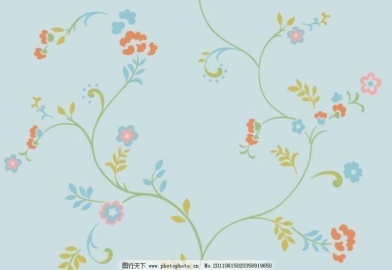 藤蔓卡通碎花 韩版 藤蔓 碎花 卷草 图案 花型 花边花纹 底纹边框