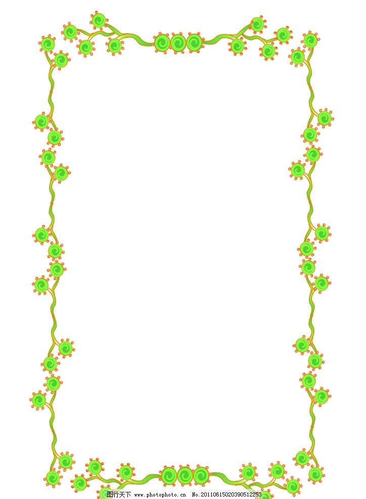 花边 碎花 像框 方边 绿叶 花腾 连叶 花边花纹 底纹边框 设计 350dpi
