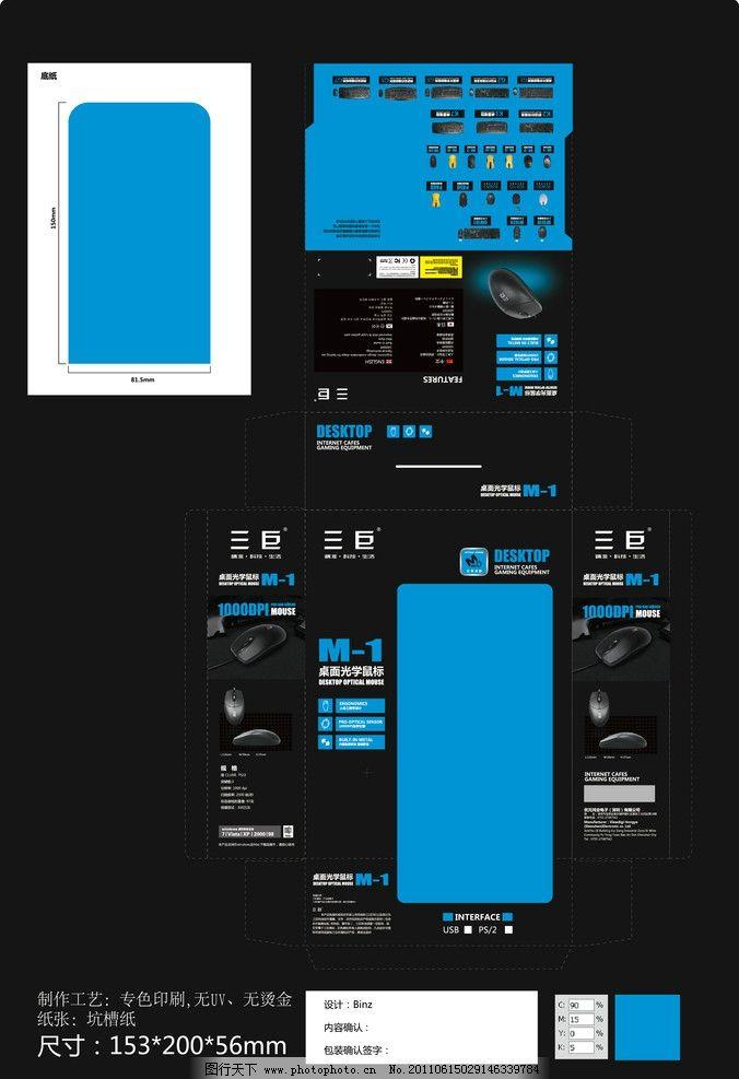 鼠标包装 游戏鼠标包装 包装设计 广告设计 矢量 ai