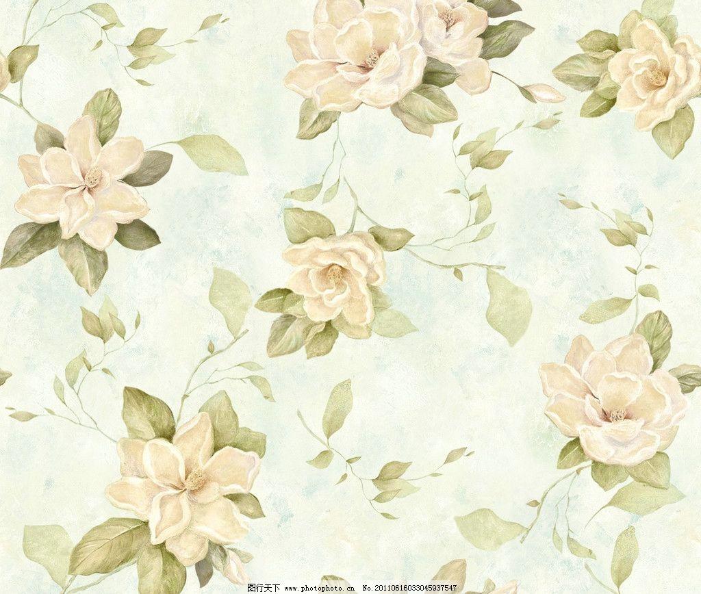 花卉背景 花卉设计 四方连续 水彩花卉 柔美色彩 psd分层素材 源文件