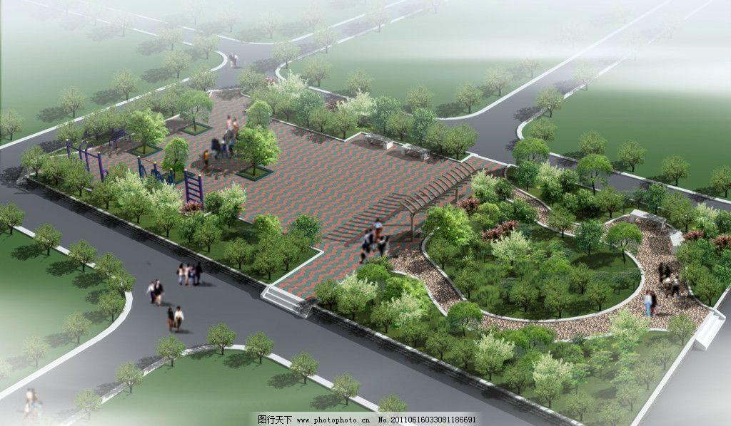 园林景观 设计 建筑效果图 建筑鸟瞰图 鸟瞰图 高楼大厦 环境设计