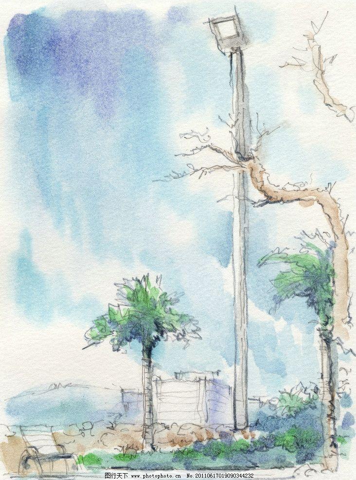 水粉风景素描 绘画 水粉画 静物素描 风景 特写 素描 速写 艺术 绘画