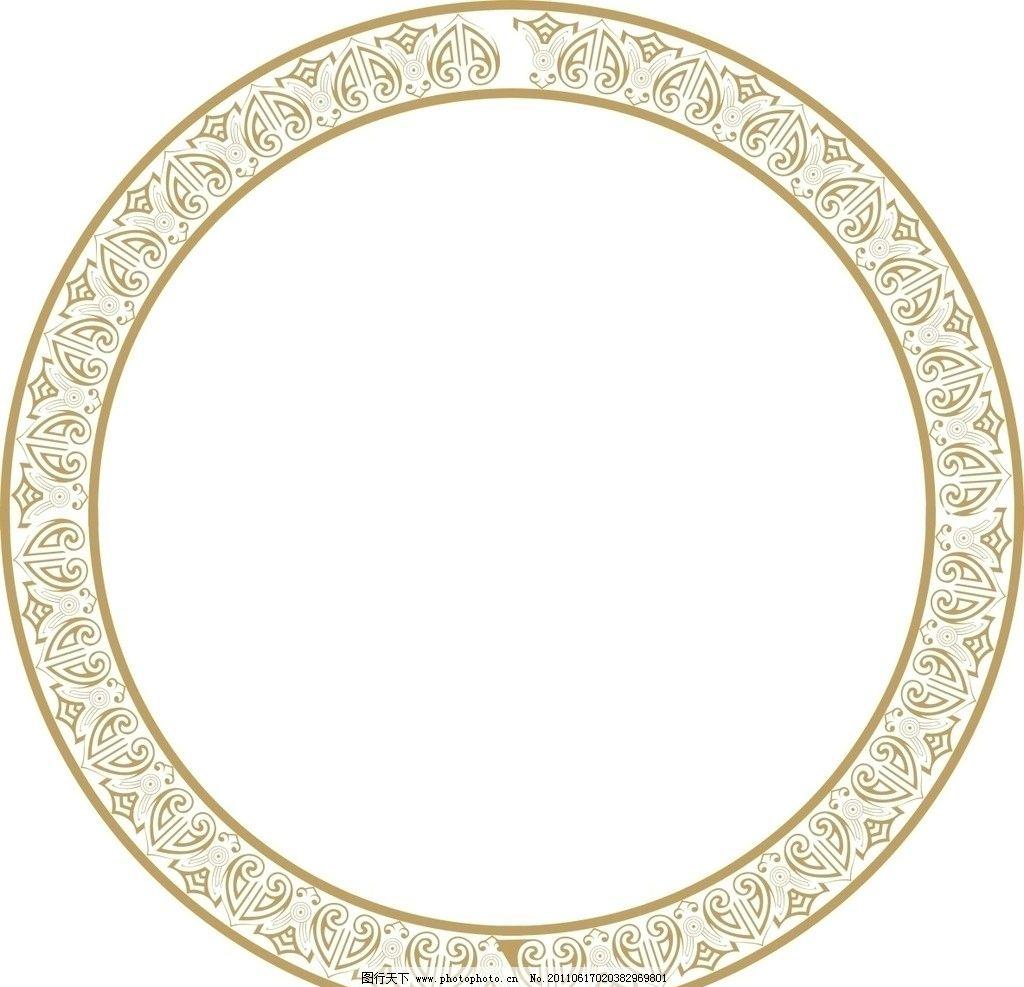 传统边框 边框 传统 金色