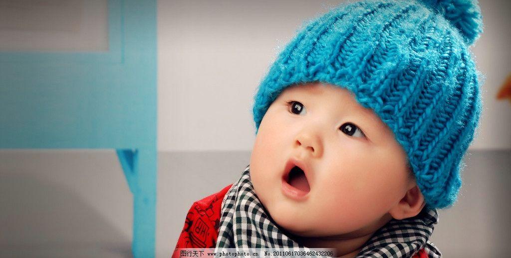 可爱小宝贝 儿童摄影 可爱宝宝 明星宝贝 蓝色帽子 宝宝成长 儿童写真
