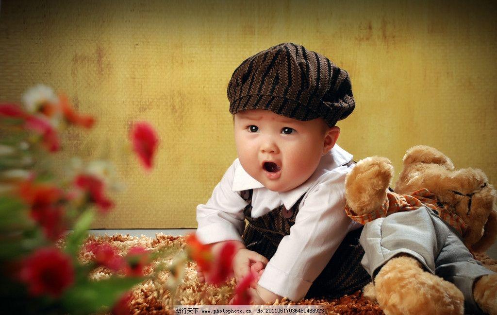 可爱小宝贝 儿童摄影 可爱宝宝 明星宝贝 毛绒小熊 宝宝成长 儿童写真