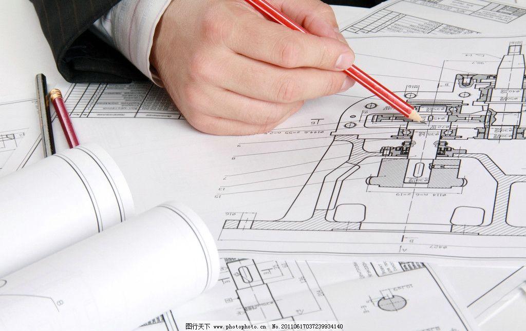 工程图纸 测绘 测量 图纸 建筑平面图 规划图 工程师 圆规 配图 工程