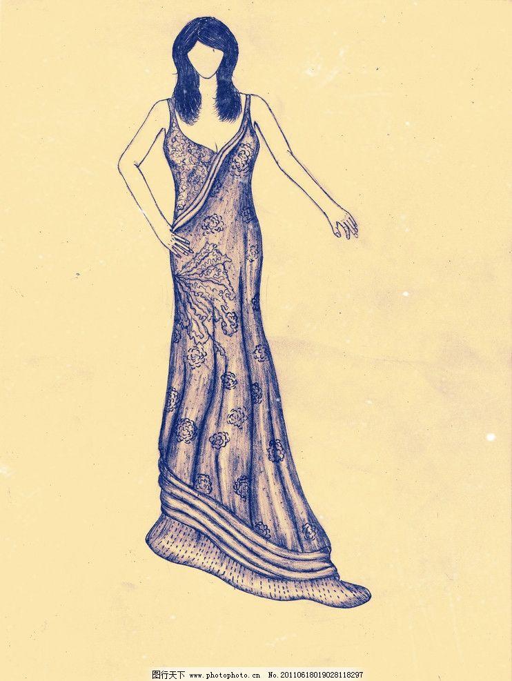 服装设计手稿图片