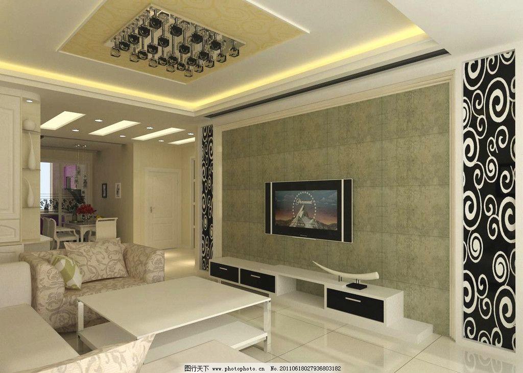 电视背景墙 背景墙 室内设计