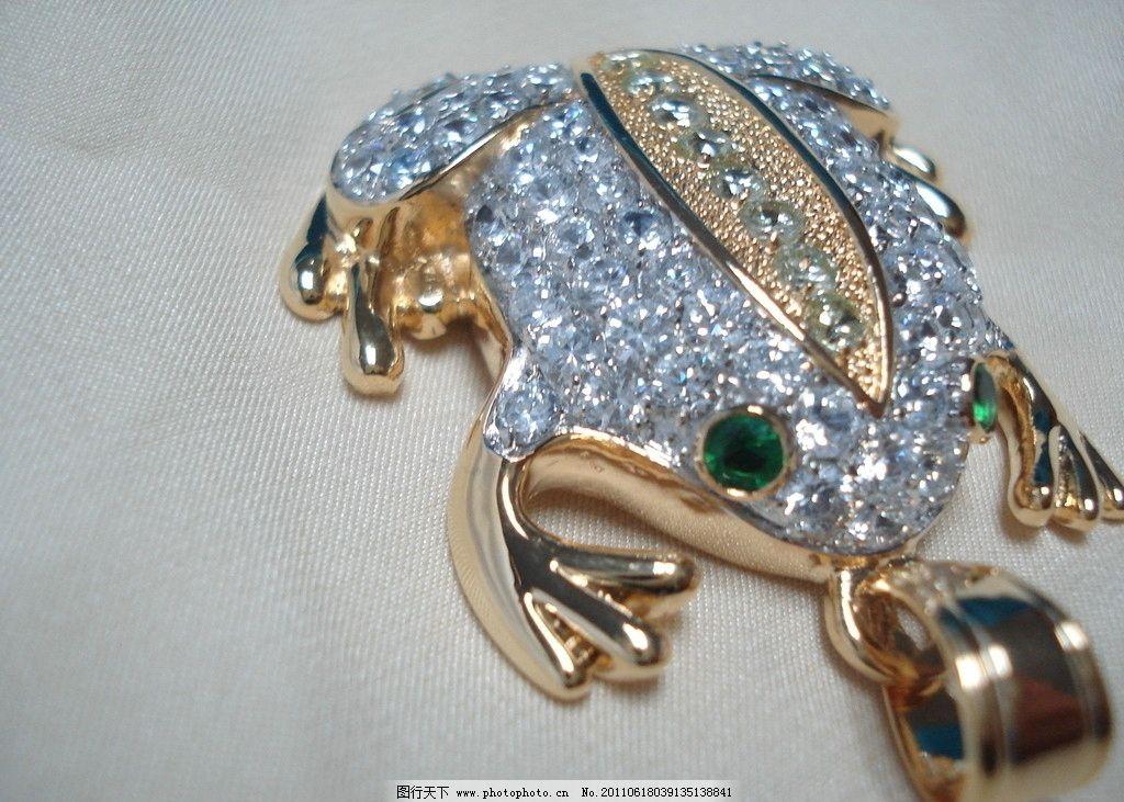 珠宝工艺青蛙 珠宝 钻石 动物造型 青蛙 饰品 吊坠 18kgp 珠宝工艺