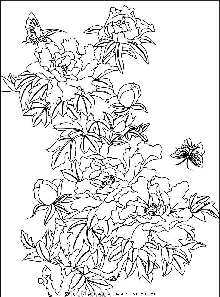 蝴蝶侧面手绘简笔