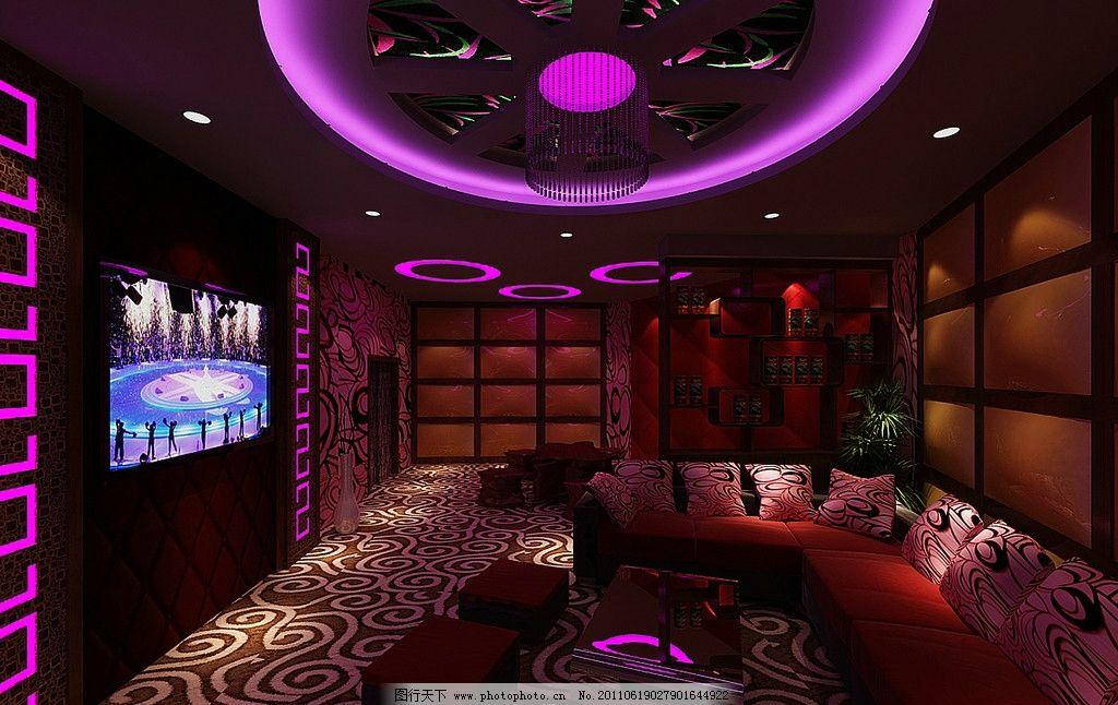 ktv效果图 ktv 彩电 沙发 吊顶效果图 室内设计 环境设计 设计 110dpi