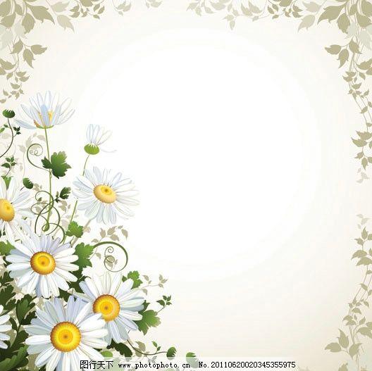花卉 绿叶 花瓣 花蕊 花朵 花纹 花边 边框 相框 古典 传统 底纹 请柬
