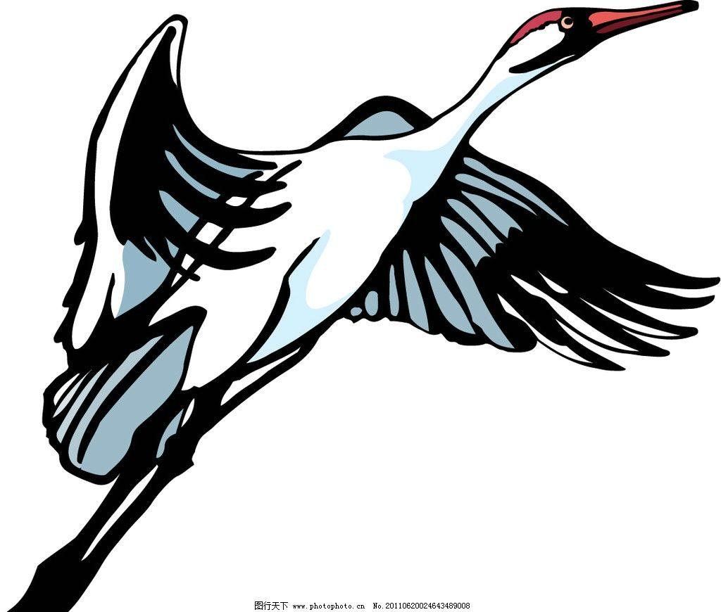 丹顶鹤小动物矢量图片