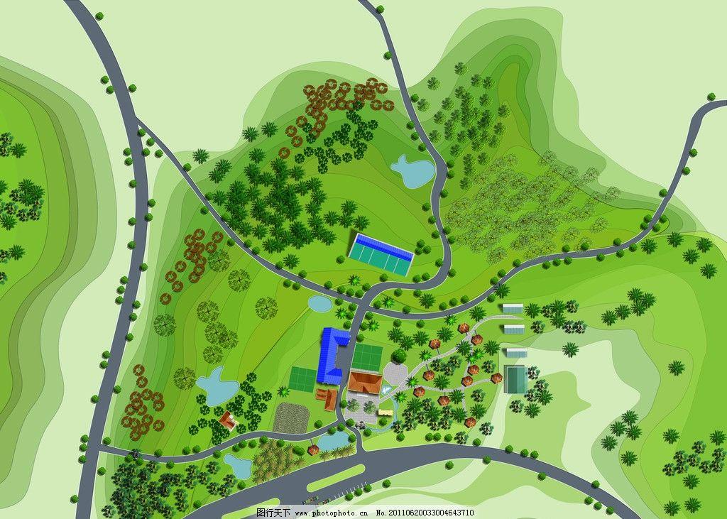 景观规划 景观设计 手绘效果图 平面后期素材 手绘景观 马克笔 水彩