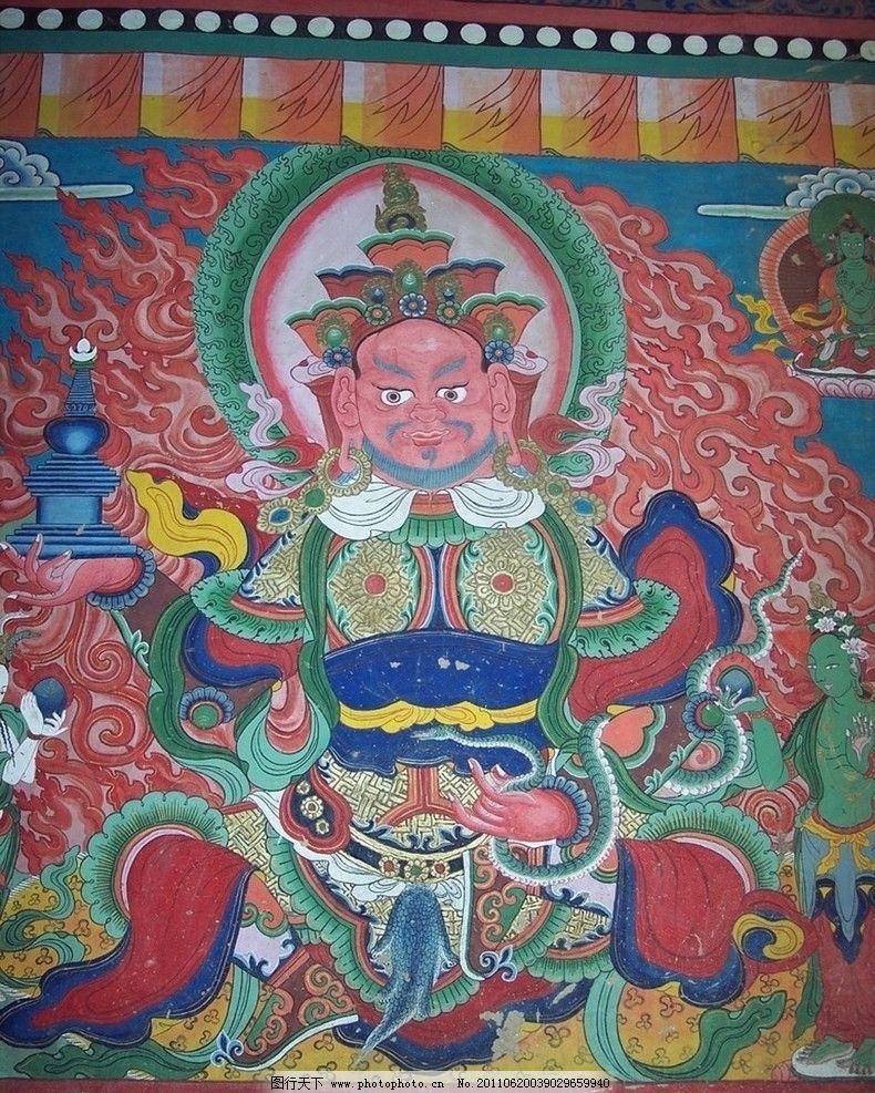 寺院彩绘 四大天王 佛教壁画 风调雨顺 宗教信仰 文化艺术 摄影 100