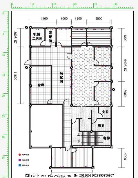 室内设计办公室设计平面图 室内设计平面图 房地产 广告设计 户型