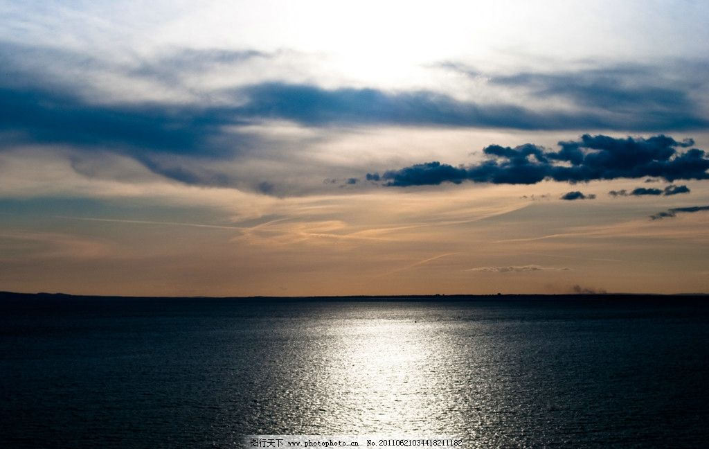 海面 海水 云 云彩 余晖 山水风景 自然景观 摄影